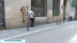 Naked babe lauren shows her amazing hot ass in public