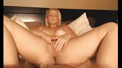 Hot Thick Blonde Plays With Herself