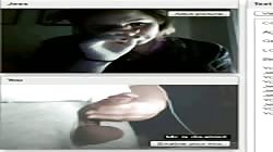 She watches me cum (chatroulette)