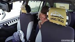 Young blonde getting fucked hard in the video by Czech Taxi