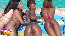Horny ebonies are showing their asses in the scene by Black Gfs