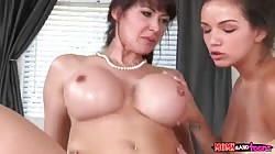 Mom and young babe getting fucked hard by horny boyfriend