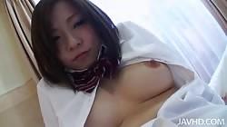 Asian schoolgirl diving in hardcore sex with horny lover