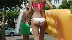 Beautiful Ass Walking in Thong
