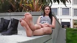 Dirty Feet On Street