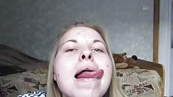 Tongue Tricks, Deepthroat, Saliva, Tonsils, Svetlana pt2