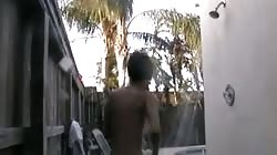 perfect tits and shaving in outdoor shower