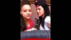 Cute girls lesbian in love kissing and hugging