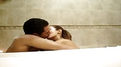 Alejandra Saucedo in bathtub with boyfriend