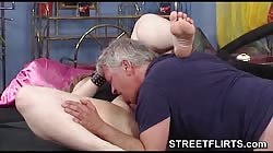 munching a large fleshy pink vagina