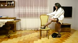 full wife as secretary dancing and undress