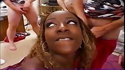 Wild and Horny Ebony Gangbanged