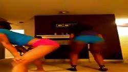 Sexy Slim NOT sisters TWERK - Throw It Back