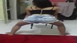 Malay girl twerking
