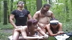 Russian Group Sex in the Forest