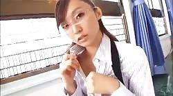 Very Cute Japanese Girl Is Teasing Us