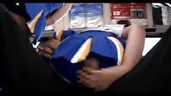 censored asian cheerleeder assjob on panty