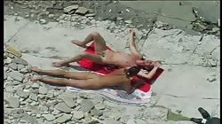Cocco Spice babe gets fucked right on the public beach