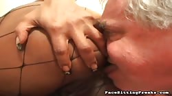 old slave blowing her succulent sad asshole and snatch