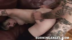Fully tattooed Emo slut shows off her love for long-cocked bf