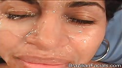 It seems like this girl is addicted to Brazilian Facials