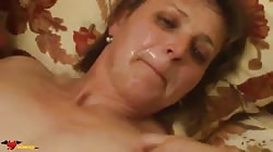 Filthy amateur russian woman is getting a dose of the sperm on her face