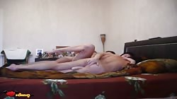 Crazy Russian brunette is getting into an awesome amateur action