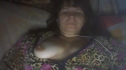 Old Russian lady shows off her fully naked pussy and tits