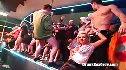 Very horny drunk ladies are blowing cocks at a party