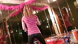 Fully clothed Dancerbating teen is trying hard to masturbate