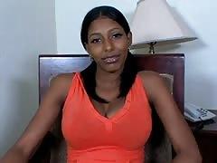 big boobs latina teen is interviewed then fucked