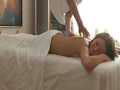 Cutie nude massage and masturbating