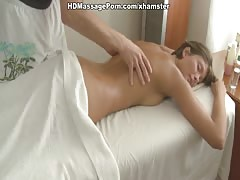 Massage makes girls pussy wet