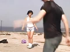 Nude Beach - teenage  honeypot  with CIM Facial - self filmed