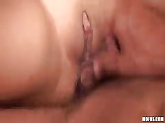 Horny babe fucked by three peckers in double penetration gangbang porn