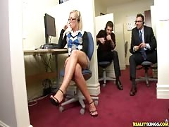 Nerdy secretary is getting seduced by her lovely boss