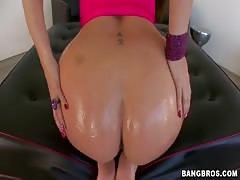 Milf with cute smile and huge ass getting fucked from behind