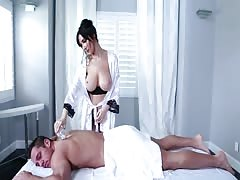 Astonishing brunette getting fucked by her lovely client