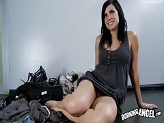 Black-haired white milf seducing horny as fuck black teacher