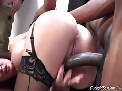 BBC drilling slutty wife with hardcore passion and force