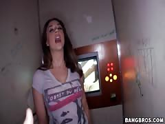 Awesome cock-sucking action in gloryhole with beautiful milf