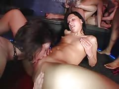Swingers are banging hard right in the night club with sluts