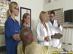 3 cool Nurse stunners want to try his gigantic sunless wiener
