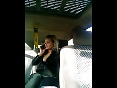 Hot public sex at the backseat of the car with a busty blonde