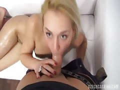 Sweet casting slut fucks in different poses at the casting