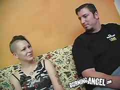 Sexy punk is ready to gives a blowjob in homemade porn