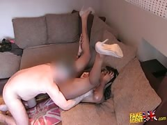 Interracial sex with black slut and Fake Agent UK!
