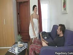 Czech cute takes hard fucking after shower