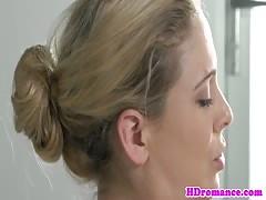Amateur blonde MILF gives great blowjob