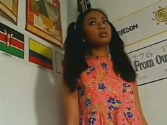 Cute Teen Schoolgirl in Detention get Fucked by Two Teachers